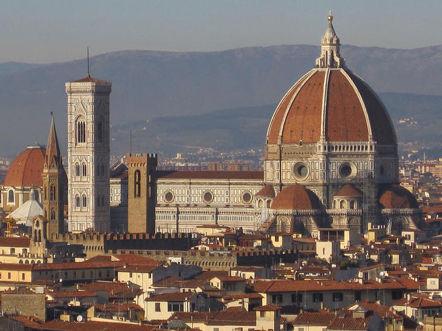 """The competition in 1418 to design the dome atop the Cathedral of Santa Maria del Fiore, in Florence, is the subject of """"Brunelleschi's Dome,"""" one of KPLU travel expert Matthew Brumley's favorite books."""