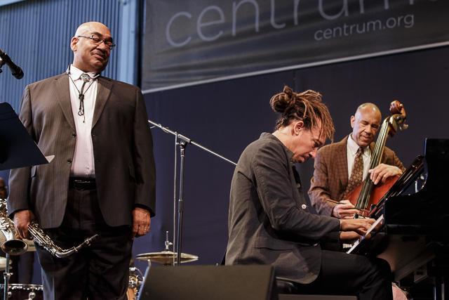 Jeff, Gerald and John Clayton at Jazz Port Townsend