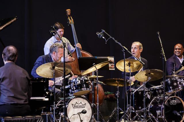 Two drummers and co-leaders Jeff Hamilton and Joe LaBarbera