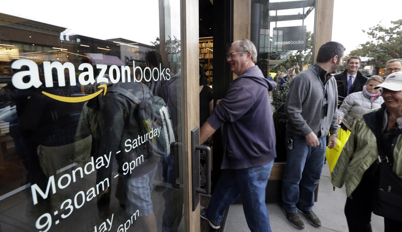 Amazon opened its first brick-and-mortar bookstore in Seattle's University Village last year.