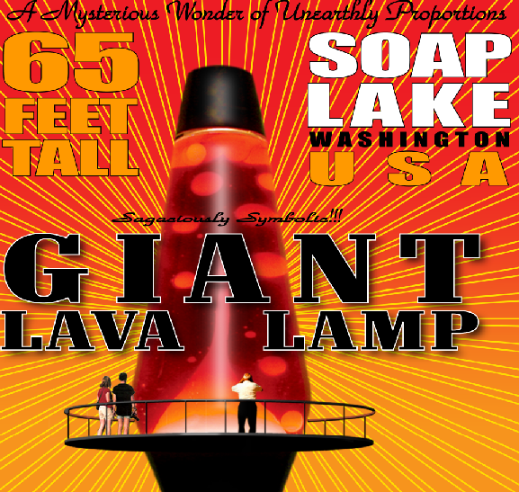 The residents of Soap Lake, Wash. have a dream of constructing a 65-foot-tall lava lamp.