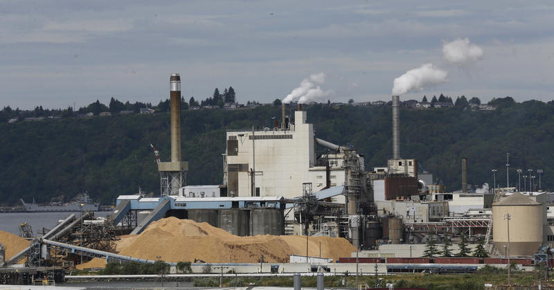 The RockTenn paper mill in Tacoma is among the large emitters of carbon who will have to comply with Washington's new rule to limit greenhouse gas emissions.