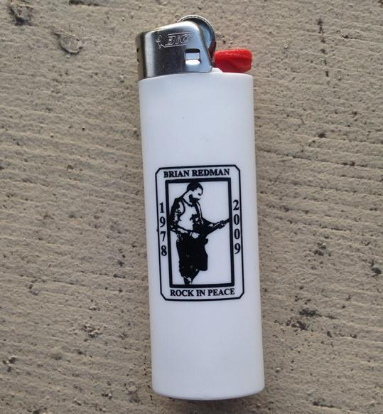 These lighters circulated after the passing of Tacoma bartender Brian Redman.