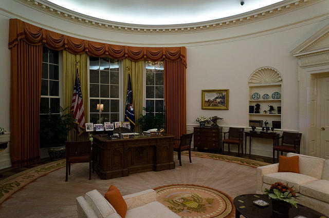 A replica of the Oval Office is one part of the Ronald Reagan Presidential Library in Simi Valley, Calif.