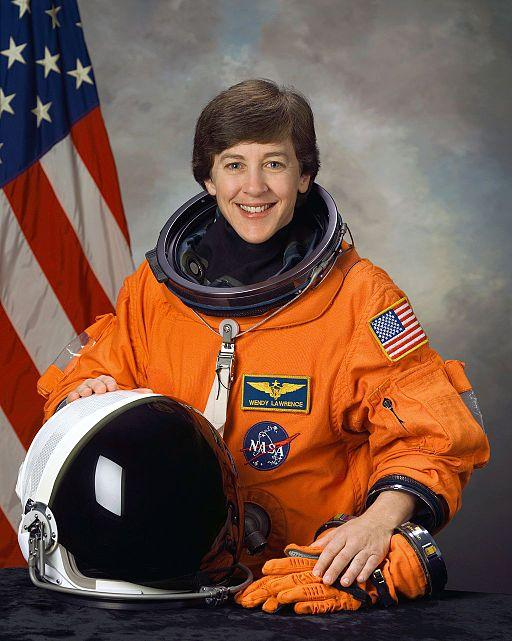 Astronaut Wendy Lawrence, mission specialist, in December 2003.