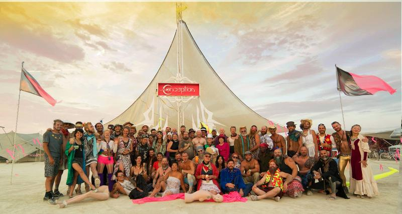 Benjamin Kantner's Burning Man camp in 2016.