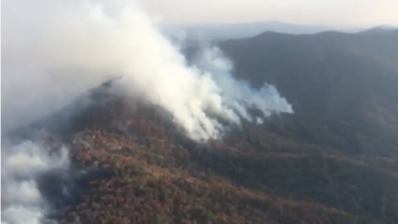The Northwest fire crew is assisting on the Rock Mountain Fire in Georgia's Chattahoochee-Oconee National Forest.