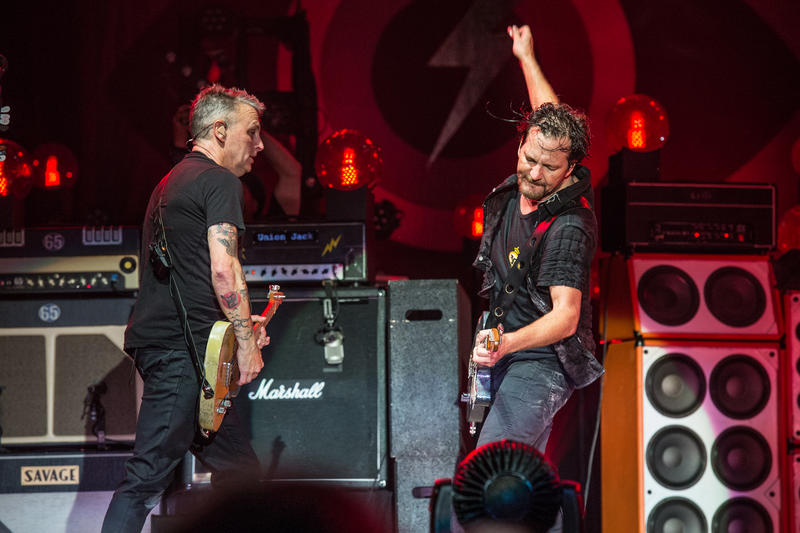 Mike McCready, left, and Eddie Vedder of Pearl Jam performs at Bonnaroo Music and Arts Festival on Saturday, June 11, 2016, in Manchester, Tenn.