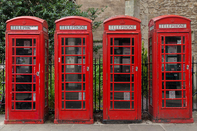With apologies to these handsome phone booths, there are better ways to keep in touch while overseas.