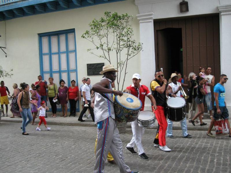 Street parade in Havana