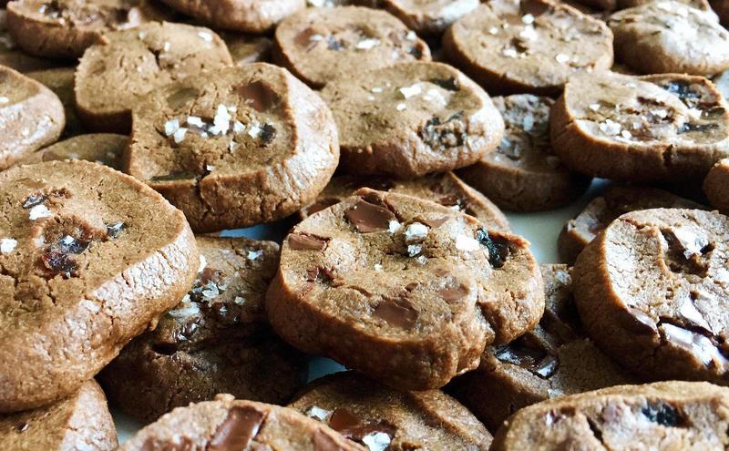 World Peace Cookies. Nancy's add: Dried cherries and Maldon sea salt