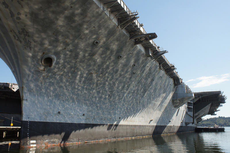 The fifth USS Independence (CV/CVA-62,) a Forrestal-class aircraft carrier of the United States Navy, seen on September 1, 2013 at Puget Sound Naval Shipyard in Bremerton, WA.