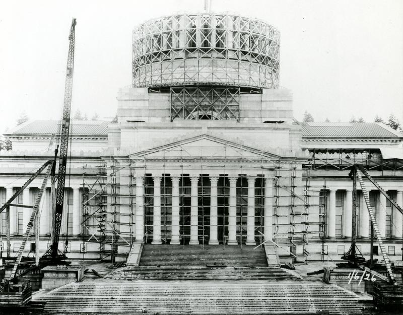 Washington state's Legislative Building, on the Capitol Campus in Olympia, was built between 1923 and 1926.