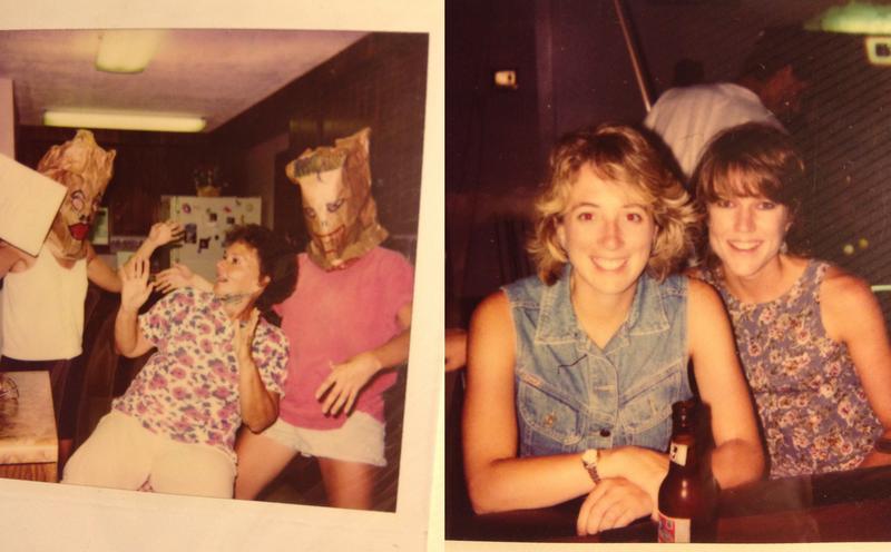 Polly Story-Lebl and Rachel McArthur surprise Lanora Walker in Nebraska in 1995.