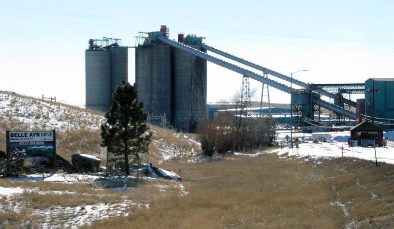 A Jan. 2016 file photo of the Belle Ayr Mine near Gillette, a northeastern Wyoming coal town where the owner has filed for Chapter 11 bankruptcy. Coal's been hit hard by bankruptcies, new pollution rules and the decline of a once-promising export market.