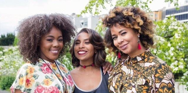 """Hella Black Hella Seattle"" podcast hosts Jasmine Jackson, Alaina Caldwell, and Eula Scott Bynoe."