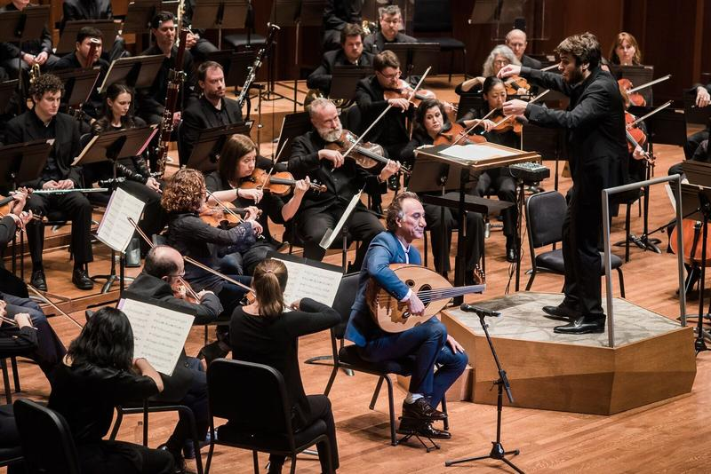Rahim Alhaj plays the oud with the Seattle Symphony, during a concert celebrating music from seven Muslim-majority countries named in a presidential executive order. Pablo Rus Broseta conducts.