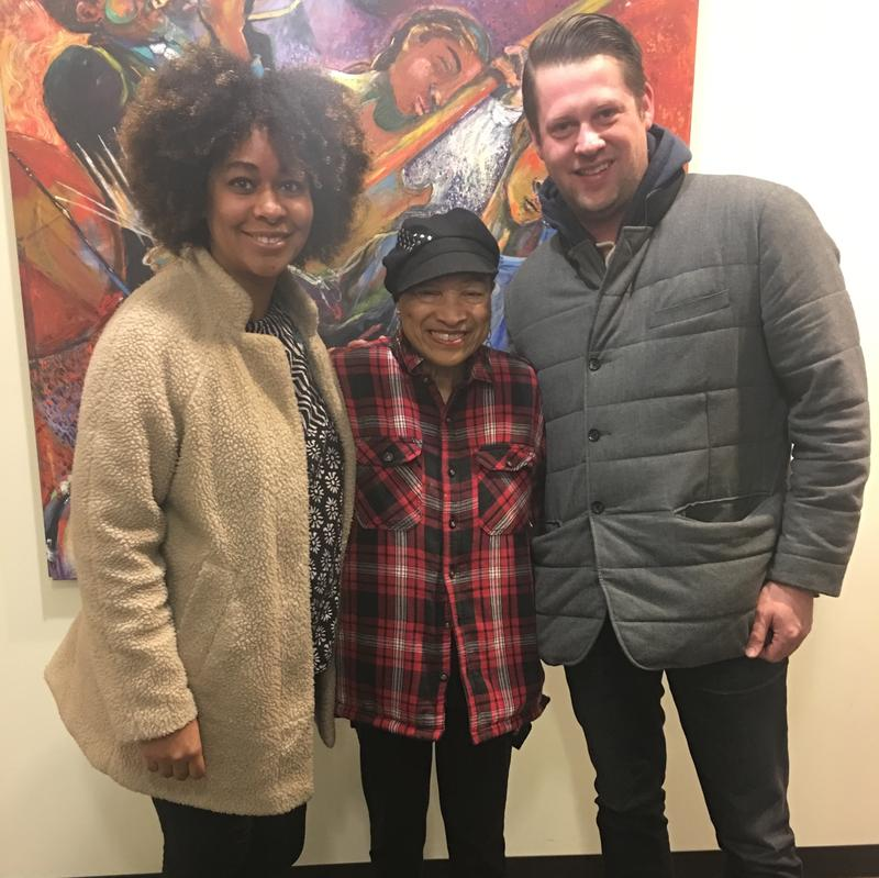 From left to right: Eula Scott Bynoe from Hella Black Hella Seattle, Pastor Pat Wright, and Sound Effect producer Kevin Kniestedt.