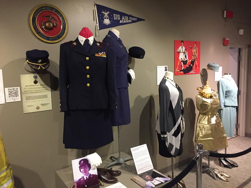 Colonel Vera Jones Marine uniform is on display from 1971. She became the highest ranking female Marine stationed in Vietnam.