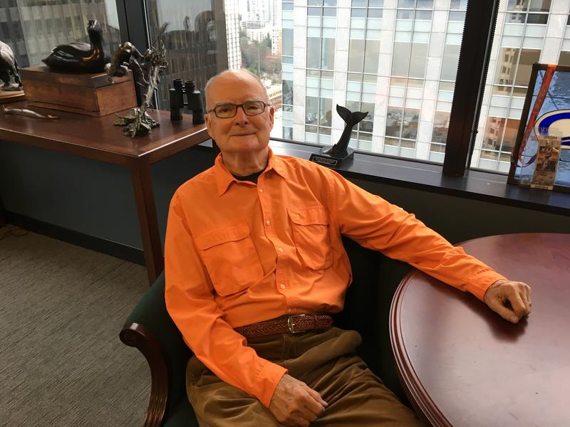 "William Doyle ""Bill"" Ruckelshaus, former CEO of Weyerhaeuser and longtime public servant led the EPA when it was created during the Nixon Administration. He's pictured here in his Seattle office at The Madrona Group."
