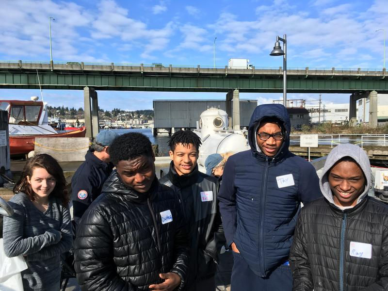 Juniors from South Seattle's Georgetown neighborhood in an alternative school called Opportunity Skyway checked out a manned submersible vehicle and other maritime options at a recent job fair.