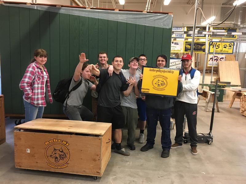 Aberdeen High School students built a tiny house in their construction class.
