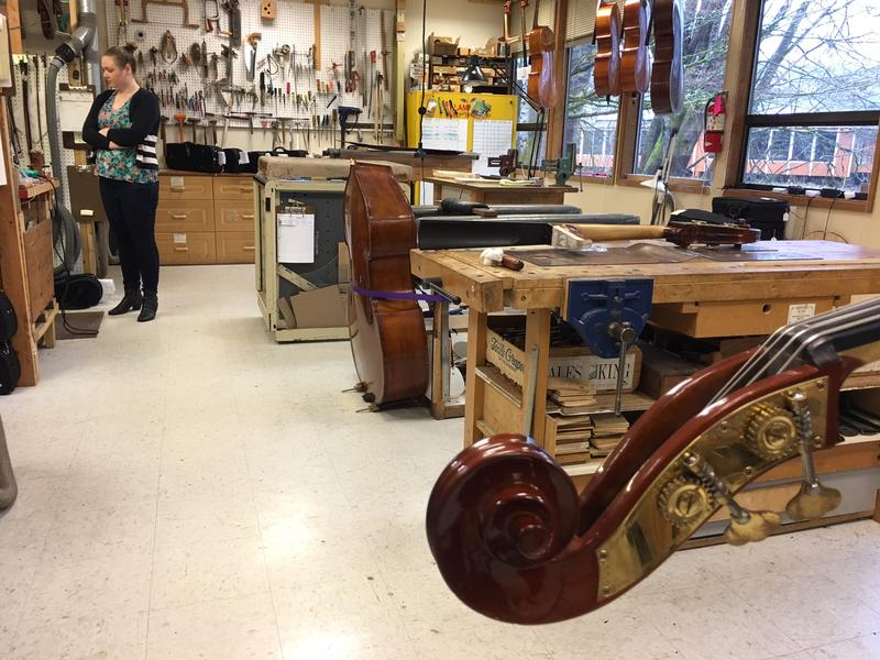 The luthier shop at Hammond Ashley Violins in Issaquah.