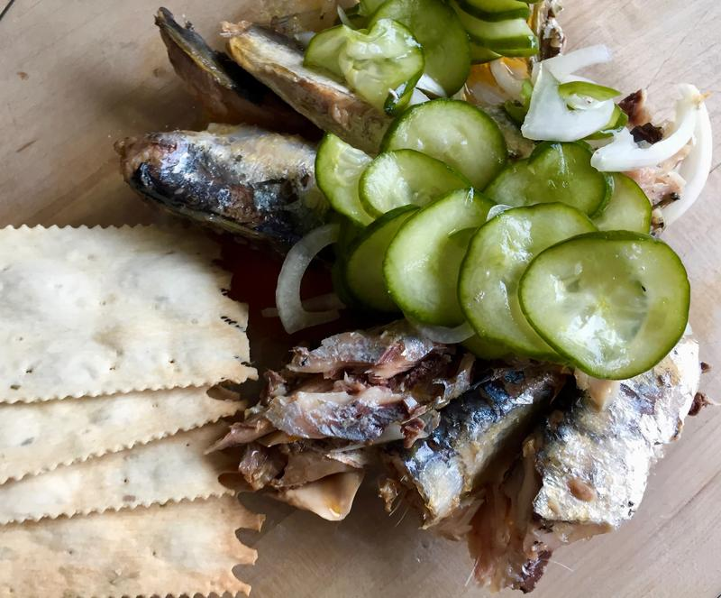 Nancy likes these Thai cucumber pickles on sardines
