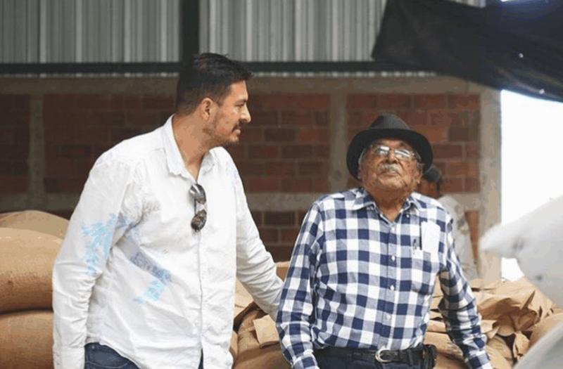 Edwin with his grandfather, Felipe Martinez, now 97