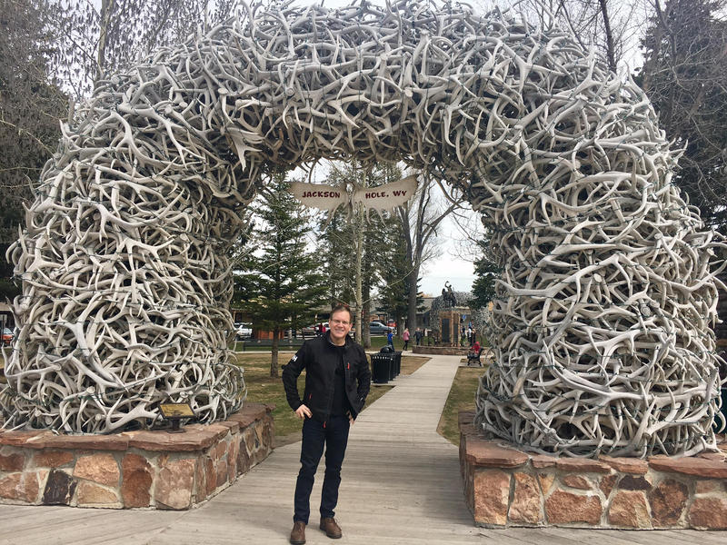 Matthew Brumley in Jackson Hole, Wyo. He says now -- the shoulder season between winter and summer rushes -- is a good time to visit the mountain west.