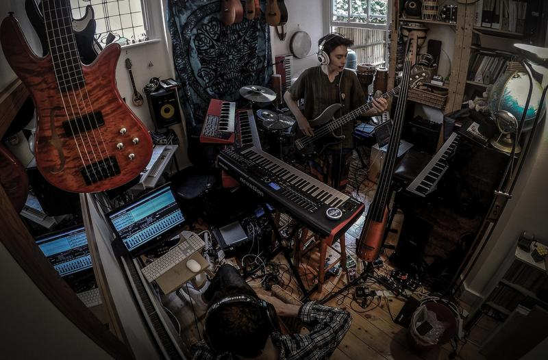 Jacob Collier in the family music room/recording studio.