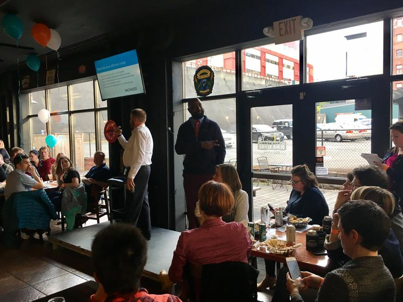 Metro Parks Tacoma Commissionner Erik Hanberg and Lincoln High School Teacher Nate Bowling host Adult Civics Happy Hour.