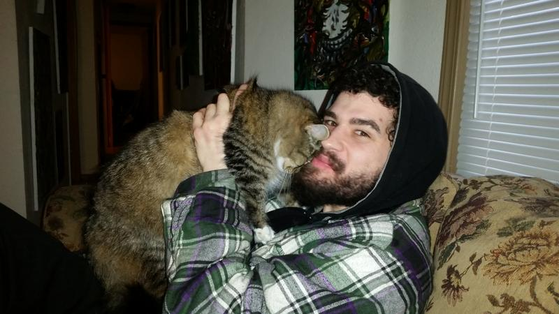 Kevin Roberts and his cat Thor. Kevin was one of the plaintiffs in a 2014 case brought against Washington state. It accused the state of violating the constitutional rights of the mentally ill who can sometimes wait weeks in jail for a mental evaluation.