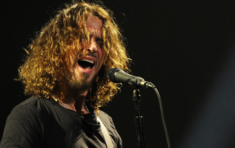 FILE - In this Feb. 13, 2013 file photo, Chris Cornell of Soundgarden performs during the band's concert at the Wiltern in Los Angeles.