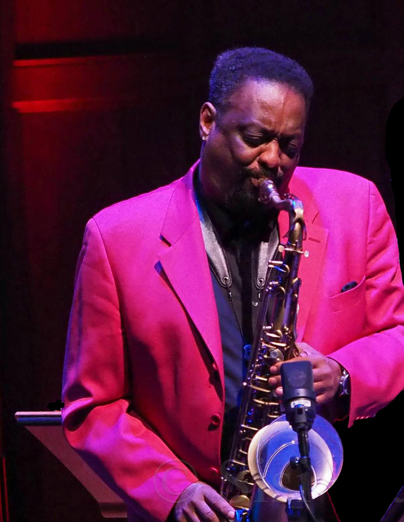 Chico Freeman playing saxophone.