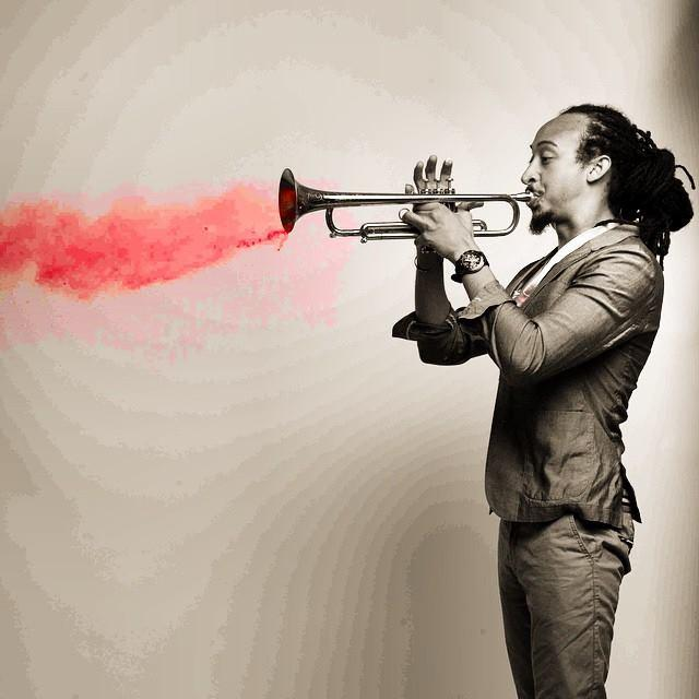 Theo Croker blows red hot trumpet.