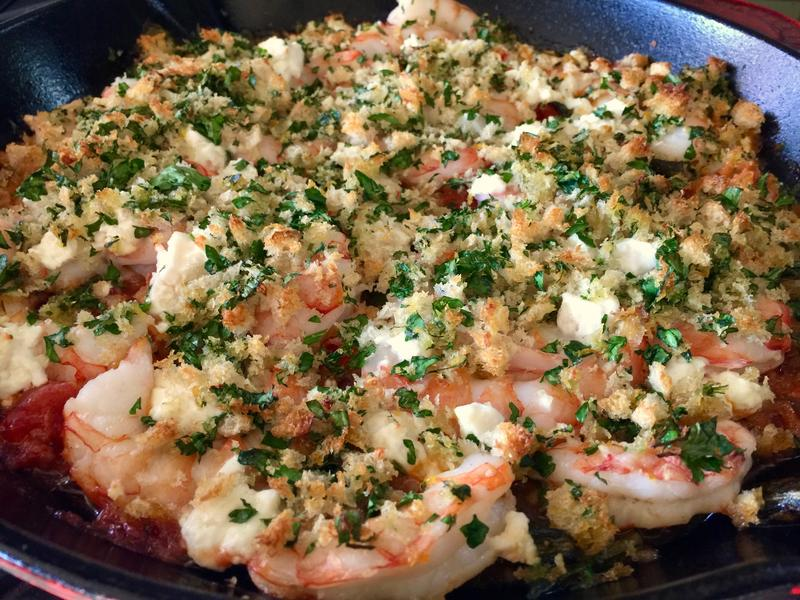 "Roasted shrimp with feta from Ina Garten's ""How Easy is That"" cookbook"