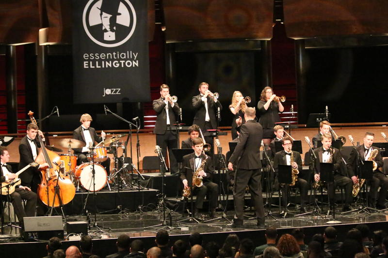 Mount Si jazz ensembles performing at Essentially Ellington competition