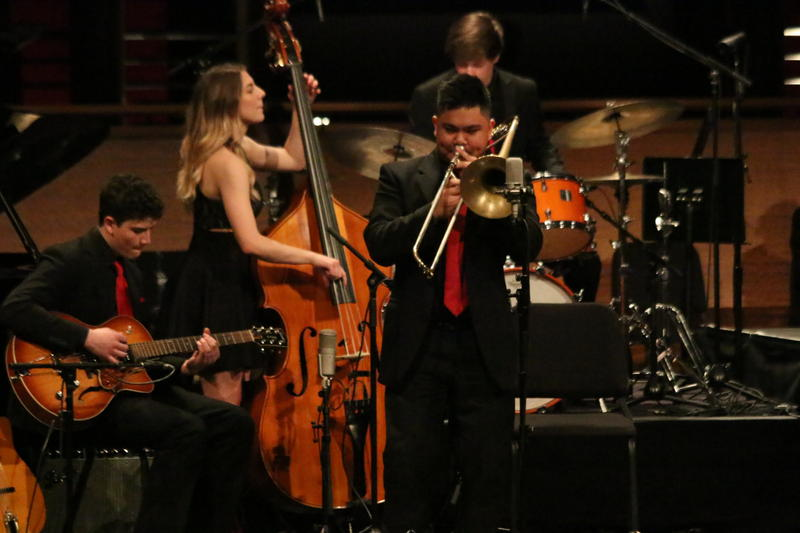 Andrew Sumabat solos during the Mountlake Terrace performance at Essentially Ellington