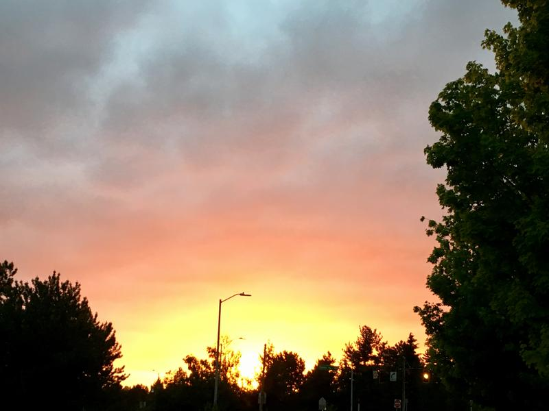 A tangerine sunset near Seattle's Greenlake on May 23, 2017