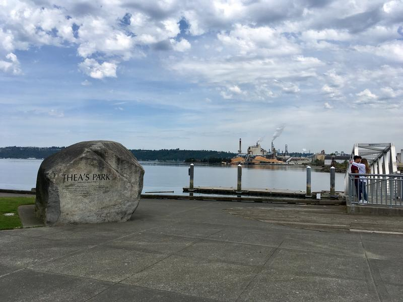 A view of the Thea Foss Waterway, near Commencement Bay in Tacoma, Wash. in early June 2017.