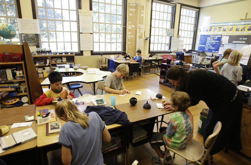 File photo: A classroom at Salmon Bay K-8 School in Seattle
