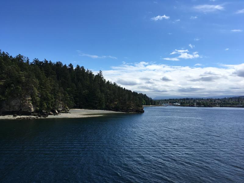 The Salish Sea near Nanaimo, British Columbia.