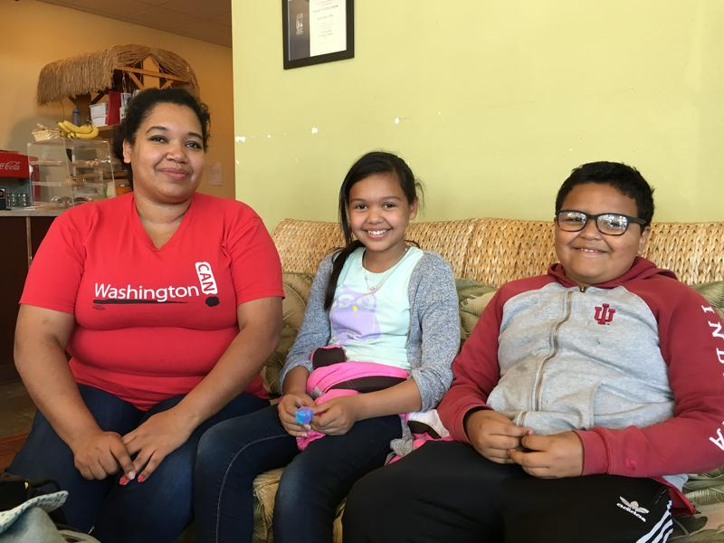Tina Velasquez and her children, Ciara and Chris, moved to Kent, Washington from Texas.