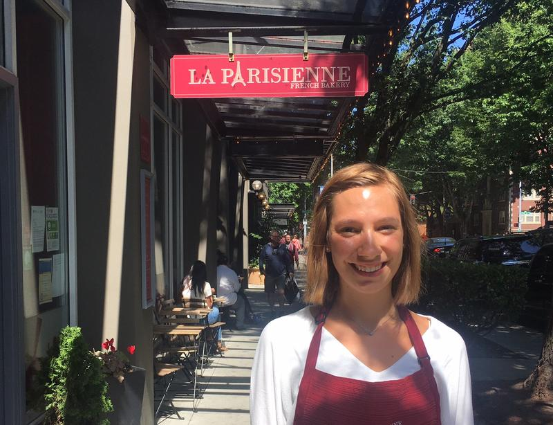 Elise Morin moved to the Seattle area from France when she was 16. Her parents opened a bakery in Seattle's Belltown neighborhood.