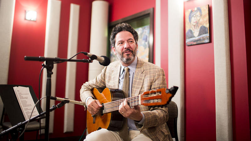 John Pizzarelli back in the KNKX studios in Seattle, Wash.