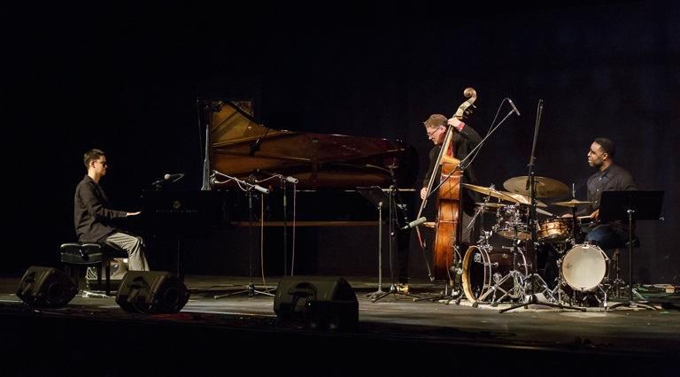 Justin Kauflin, Doug Weiss and Kendrick Scott at Jazz Port Townsend 2017