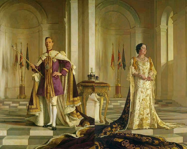 Coronation portraits of King George VI and Queen Elizabeth
