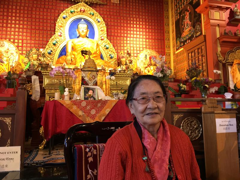Her Eminence Dagmo Kusho Sakya, at the Sakya Monastery of Tibetan Buddhism in Seattle's Greenwood neighborhood.
