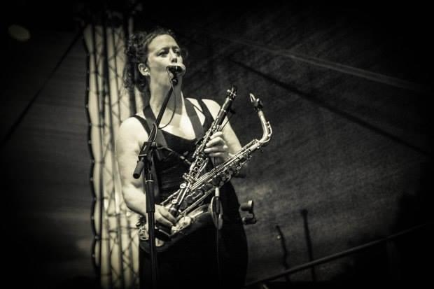 Amy Denio, co-founder of The Tiptons Sax Quartet